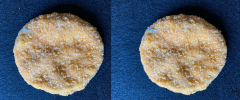 Figure 6. Chicken patties with a protruding piece of foreign material. Foreign material would be listed as the defect.